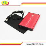 2.5 '' USB2.0 ao cerco externo de SATA HDD