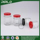 45ml 60ml 80ml 100ml 180ml 280ml 380ml 770ml ontruimen de Lege Kruik van het Glas van de Veelhoek van de Kruik van het Glas van de Opslag van het Voedsel met het Deksel van de Schroef