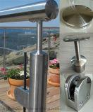 Het Traliewerk van het glas voor de Balustrade van de Leuning van het Roestvrij staal