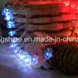 La chaîne de caractères féerique de luciole du père noël allume à piles imperméabilisent 8 modes 50 LED16.4FT