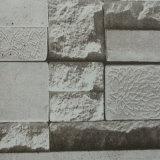 Papier de mur à la maison imperméable à l'eau de la chambre à coucher 3D de salle de séjour de PVC