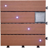 Плитка настила света WPC DIY солнечная напольная