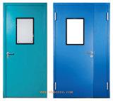 Puertas dobles del sitio limpio