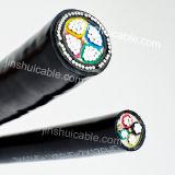 O multi alumínio dos núcleos retira o núcleo do cabo distribuidor de corrente isolado PVC