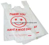 Напечатанные логосом белые пластичные хозяйственные сумки тенниски
