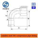 Garnitures de presse de pipe d'acier inoxydable coude d'amorçage femelle de 90 degrés