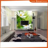 Цветки обоев 2 предпосылки TV водоустойчивые большие белые для картины маслом украшения
