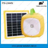 Lampada di campeggio solare portatile della batteria di litio del comitato solare 1.7W mini con il carico del telefono