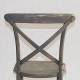 結婚式およびイベントのための純木のCrossbackの灰色の椅子