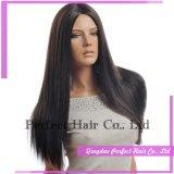 Длинние полные парики человеческих волос фронта шнурка для чернокожих женщин