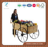 Деревянное Flower Display Cart с Steel Wheels