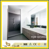 Home及びHotel Bathroomのための美しいWhite Quartz Vanity Top