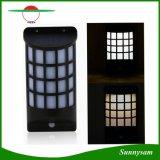 옥외 정원 벽 야드를 위한 태양 램프가 태양 강화한 태양 가벼운 Semicolumn 모양 PIR 운동 측정기에 의하여 LED 점화한다