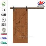Porte de grange coulissante en bois de matériel en aluminium (JHK-SK09)