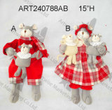 """игрушки украшения рождества мыши мальчика & девушки 8.5 """" h милые"""