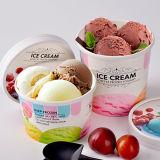 Taza de papel impresa insignia de encargo para el helado