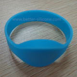 Wristband di gomma del silicone di modo RFID per attività dell'annuncio