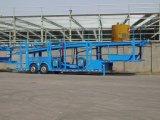 Semi-remorque de transporteur de véhicule de pneu de double d'essieu de type deux de bâti