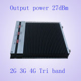 impulsionador/repetidor móveis do sinal da Tri-Faixa de 2g/3G/4G 900MHz/2100MHz/2600MHz