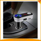 Bluetooth émetteur FM avec l'adaptateur stéréo radio fm avec appeler mains libres