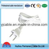 Cordon Non-Polarisé plat d'alimentation AC de Pin de la fiche approuvée normale 2 d'UL des Etats-Unis