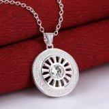 Manier om Eenvoudige Ontwerp van de Halsband van de Kleur van Zircon van de Halsband van de Vorm het Echte Zilveren voor Vrouwen