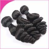 加工されていないRemyの毛の純粋なマレーシアの緩い波の人間の毛髪