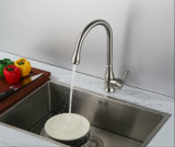 Faucet кухни нержавеющей стали материальный однорычажный