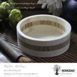 Paleta de madera redonda de encargo Wholesale_L de la visualización de Hongdao mini