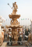 Мраморный фонтан воды сада скульптуры