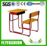 Bureau simple en bois combiné d'école de meubles de salle de classe et présidence (SF-90S)