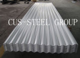 Placa de material para techos prepintada del metal/hoja de acero acanalada revestida del color