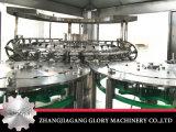 Cadena de producción del zumo de fruta en botellas