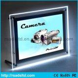 Precio de fábrica LED de acrílico Caja de Luz de Cristal