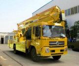 Dongfeng 4X2の高揚力プラットホームオーバーヘッド働くトラック22メートルの