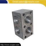 CNC do material do aço de carbono que faz à máquina o bloco hidráulico da peça sobresselente do cilindro hidráulico