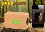 Mini altoparlante di legno 2016 di Bluetooth con le inchieste chiare di scelta di qualità del LED