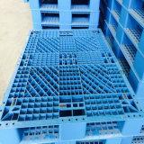 Páletes dobro e únicas resistentes do plástico dos lados HDPE/PP