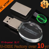 Spezielles leuchtendes Kristallgeschenk USB-grelle Platte