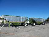 中国のブランドトレーラーを収穫するローディング50トンの支払
