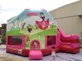 Princesse rose commerciale chaude Bouncy Castle/Inflatable Bouncy pour des gosses