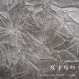 Tissu 100% de velours de polyester de cheveu court de capitonnage pour le sofa