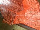 Le tissu de sac de Raschel de PE avec le dessus ouvrent 9.6cm et partie 12cm de connexion