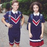 소년과 소녀를 위한 도매 교복 폴로 t-셔츠