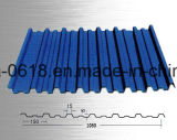 Bobina d'acciaio ricoperta colore ondulata PPGI del materiale di tetto PPGI