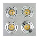 Les unités du Multi-Angle 4 de l'aluminium GU10 MR16 de tour ajustent le projecteur de LED enfoncé par inclinaison (LT2301-4)
