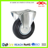 160mm schwarzes industrielles Fußrollen-Gummirad (G102-11D160X40)