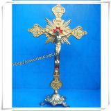 Kruzifix-Anhänger, hölzernes Kruzifix, Kruzifix Str.-Benedict, Kruzifix-Charme, Rosenbeet, frommes Kreuz (IO-ca00000)