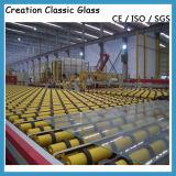 6.38mm закалили стекло прокатанного стекла обрабатываемое
