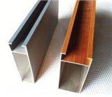 Hölzernes Korn-Aufbau-Aluminiumfenster-Tür-Profil-Aluminium-Polierprofil